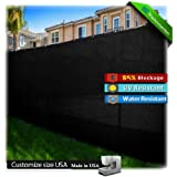 Black 6' x 50' Privacy Fence Screen