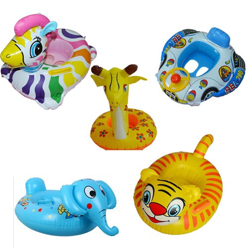 Animal Child Baby Kids Pool Beach Swimming Raft Seat Float Rings Inflatable Car front-28424