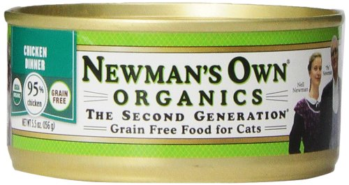 Newman's Own Organics Chicken Grain-Free Food for Cats, 5.5-Ounce (Pack of 24) Organic cat food