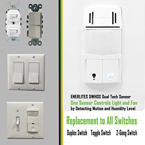 bathroom fan switch motion sensor switch to control fan and lights