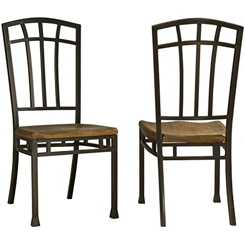 Metro Shop Oak Hill Distressed Oak Dining Chairs (Set Of 2) front-1024687