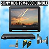 Sony Bravia M-Series KDL-19M4000 19-inch 720P LCD HDTV (Black) + Sony DVD Player w/ Deluxe Accessory