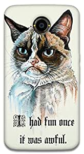 The Racoon Lean printed designer hard back mobile phone case cover for Google Nexus 6. (serious ca)