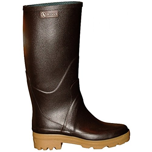 Aigle Chambord Pro L2 Damen Gummistiefel braun EUR 40 Rubber Boots Gummi Reit-Stiefel