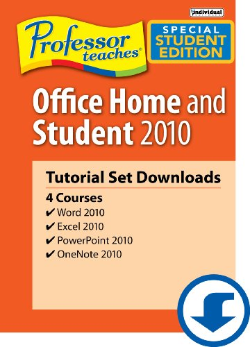 Professor Teaches Office Home & Student 2010 Tutorial Set Download Academic Version