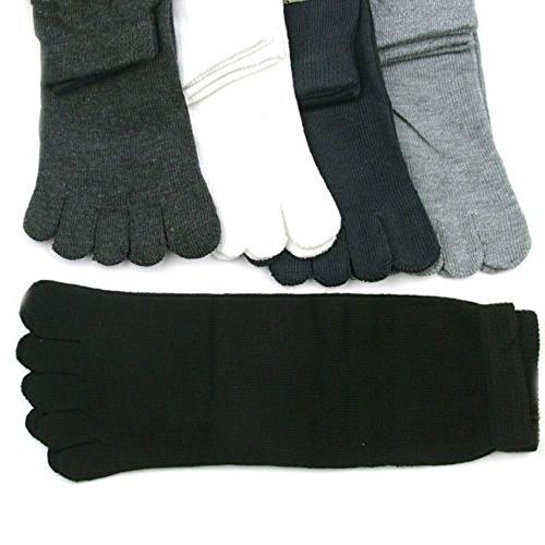 5 Pairs Men'S Five Seperate Finger Toe Socks Comfortable Cotton