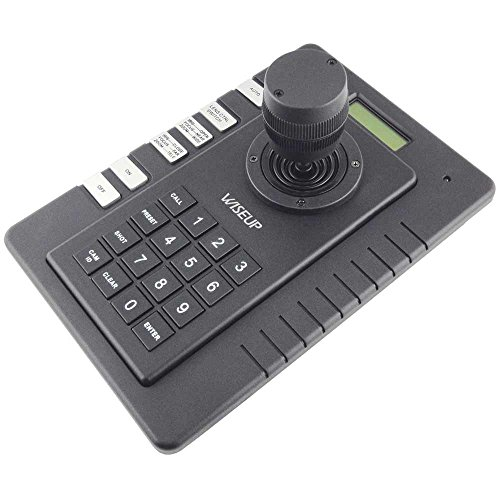 Wiseup PTZ Keyboard Controller with 3D Joystick for CCTV Speed Dome Camera Pelco-D P