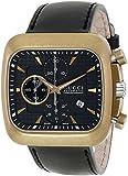 Gucci Men's YA131204 Coupe Black Leather Strap Swiss Automatic Watch