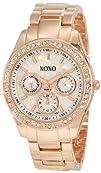 XOXO Womens XO5386  Rhinestone Accent Rose Gold Dress Watch