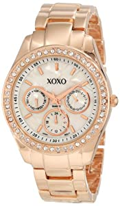 XOXO Women's XO5386  Rhinestone Accent Rose Gold Bracelet Watch
