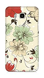 Amez designer printed 3d premium high quality back case cover for Samsung Galaxy J7 - 6 (New 2016 Edition) (Vintage flowers)