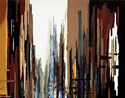 28W x 22H Urban Abstract No.165 by Gregory Lang - Stretched Canvas w/ BRUSHSTROKES