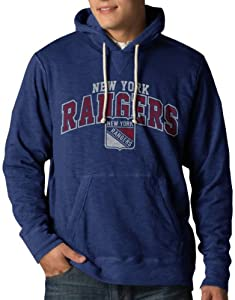 NHL New York Rangers Slugger Pullover Hoodie Jacket, Bleacher Blue by