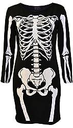 Noroze Ladies Halloween Skeleton Skull Bone Girls Dress
