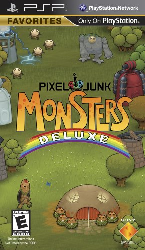 Pixel Junk Monsters Deluxe - Sony PSP (Monsters Inc Add On compare prices)