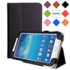 WAWO Samsung Tab 3 Lite 7.0 Inch Tablet Folio Case Cover - Black