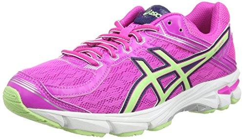ASICS Gt-1000 4 Gs -  Scarpe da corsa, unisex per adulto, colore rosa (pink glow/pistachio/indigo blu 3587), taglia 36 EU (3 UK)