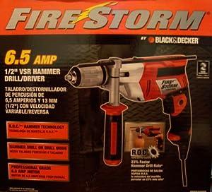 "6.5 Amp 1/2"" VSR Hammer Drill/Driver Firestorm R.O.C."