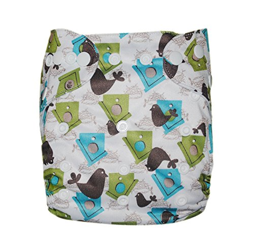 Besto Baby Reusable Washable Aio Cloth Diapers Fit 6-33Lbs With 1 Free Microfiber Insert 1N17 front-781541