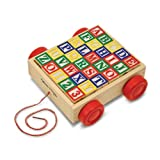 Melissa & Doug Classic ABC Block Cart
