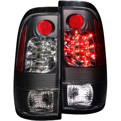 Anzo Usa 311027 Ford Heritage Black Led Tail Light Assembly - (Sold In Pairs)