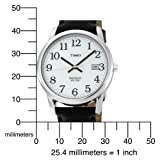 Timex Men's T2H281 Easy Reader Black Leather Strap Silver-Tone Case Watch