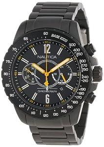 Nautica Men's Nst 15 N26537G Grey Stainless-Steel Quartz Watch with Black Dial