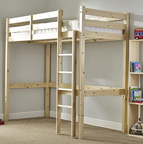 Strictly Beds and Bunks - Icarus High Sleeper Loft Bunk Bed, 3ft Single