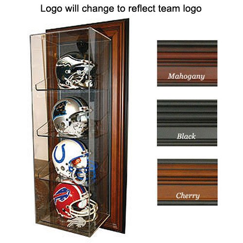 "BSS - Baltimore Ravens NFL Case-Up"" 4 Mini Helmet Display Case (Vertical) (Mahogany)"" at Amazon.com"