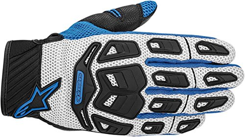 NEW ALPINESTARS ATACAMA AIR ADULT LEATHER/MESH GLOVES, COOL GRAY/BLUE, LARGE/LG