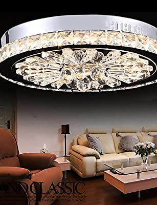 ZSQ Crystal Flush Mount/LED Modern/Contemporary Living/Bed/Dining/Study/Office/Kids/Hallway Metal #4647