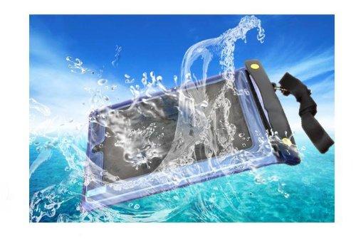 iPad iPad2 防水袋 防水ソフトケース/カバー お風呂OK! galaxy tab  キンドル その他スマートフォン等にも (ブルー)