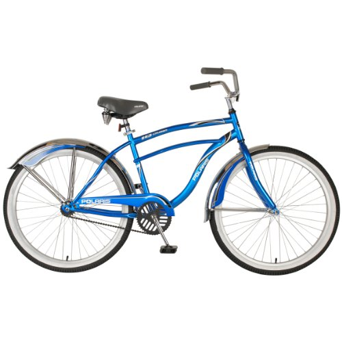 Polaris Men's IQ Cruiser Bike (Blue/White, 26 X 18-Inch)