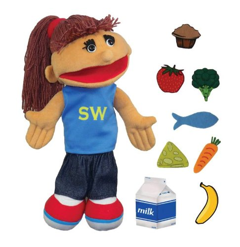 Childcraft Smart Woman Puppet With Food Pieces And Cd