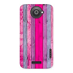 Special Pink Wall Multicolor Back Case Cover for HTC One X