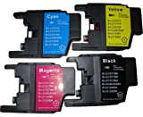 4x Brother LC1240 / LC1220 Cyan / Magenta / Yellow / Black Multipack - 4 Compatible Printer Ink Cartridges for MFC J6510DW J625DW J6910DW J6710DW J825DW J430W DCP J725DW J925DW J525W J5910DW printers