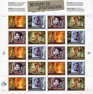 Women in Journalism 20 x 37 Cent U.S. Postage Stamps