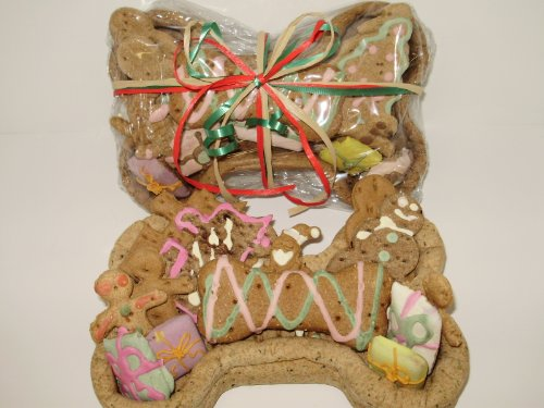 Christmas Doggy - Dog Gift Basket - Edible Basket with Organic Dog Treats - Heidi's Homemade