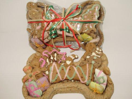 Christmas Doggy - Dog Gift Basket - Edible Basket with Organic Dog Treats - Heidi's Homemade