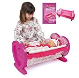 Girls Dolls Rocking Baby Cradle Crib Cot Bed With Bedding Toy Play Set Gift Xmas