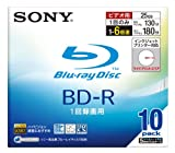 Sony Blu-ray Disc 10 Pack - 25GB 6X BD-R - White Inkjet Printable [Japanese Import]