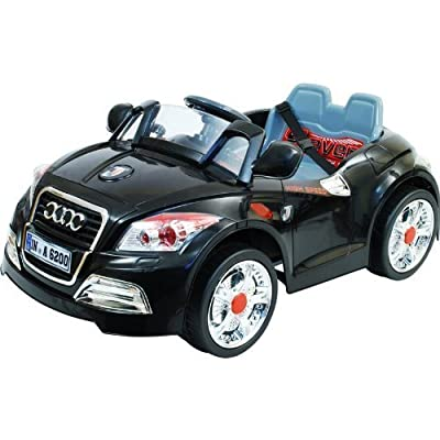 12v Twin Motors Audi Tt Style Rechargeable Kids Ride On Car + Parental Remote Control And Mp3 Input, Available In Pink Whie And Black, 3 Colours. (12v Audi Tt Black)