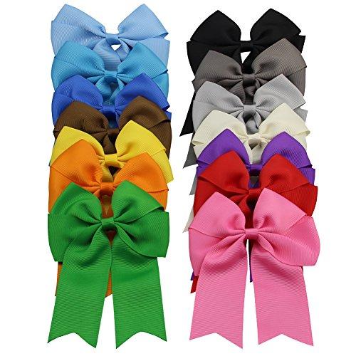 qtgirl-14-stk-10-cm-mischfarben-cheerleader-haarklammern-haarclips-haarschleifen-haarspangen-fur-mad