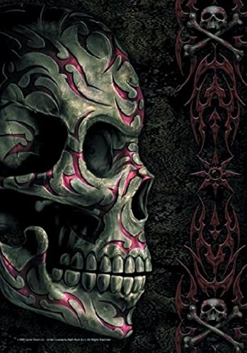Bandiera Skull Tatoo Poster Spiral