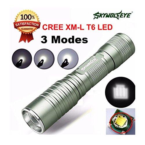 Iuhan Fashion Focus 4000 Lumens 3 Modes CREE XML T6 LED 14500/AA Flashlight Torch Lamp