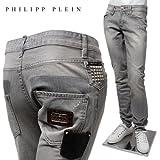 (フィリッププレイン) PHILIPP PLEIN ストレート カット ジーンズ 『pimp』 【グレー】 HM591105 10RD/PHILIPP PLEIN [並行輸入品]