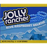 Jolly Rancher, Blue Raspberry, Gelatin Mix, 2.79oz Box (Pack of 4)
