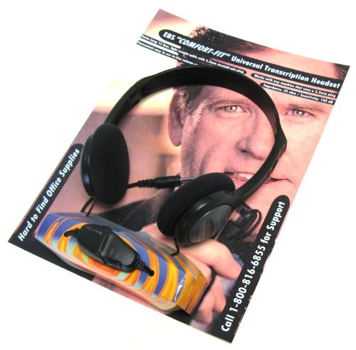 Lanier **Comfort Fit** Headset By Ebs With Inline Volume Control