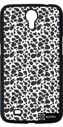 Hülle für Samsung Galaxy Mega 6.3 (GT-I9205) - Cheetah -Haut-Muster Schwarz und Weiß - ref 456