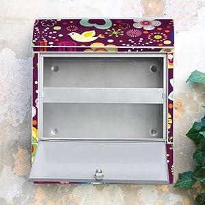Design Briefkasten 38x42x11 von banjado mit Motiv Love and Peace